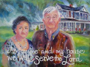 Ike and Gayle, 18x24 oil on ampersand