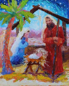 Nativity 2014 8x10 oil on canvas